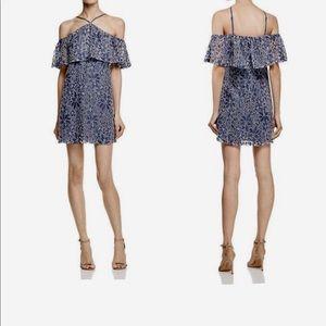 Lush Lace Mini Dress Cold shoulder. Size S